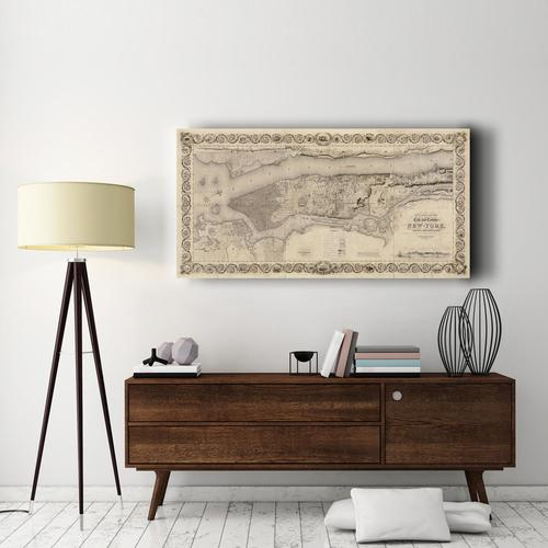 City and Country of New York | Canvas