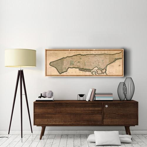 New York and the Island of M | Canvas