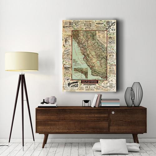 California map for Cyclers | Canvas