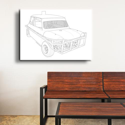 Stock car  II | Canvas