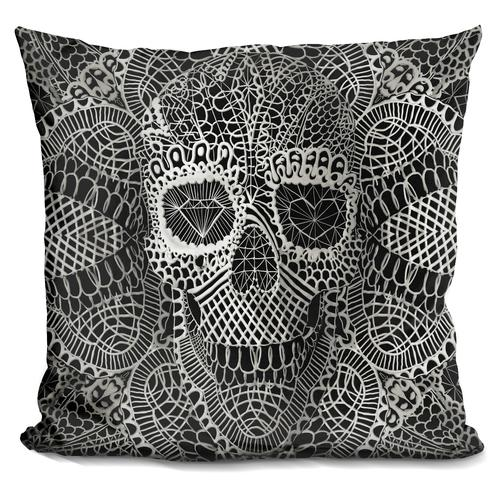 'Lace skull' Throw Pillow