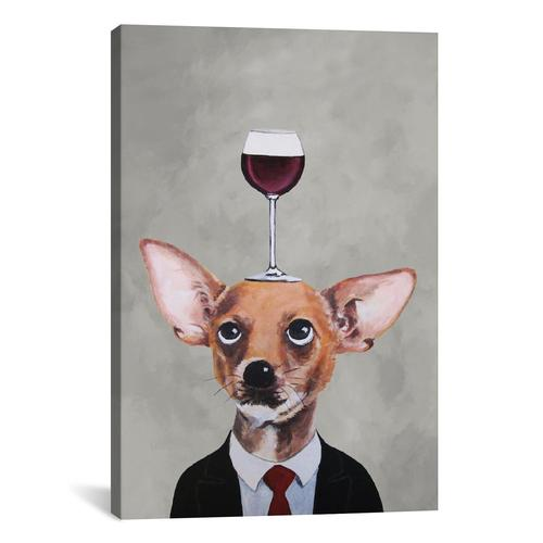 Chihuahua With Wineglass