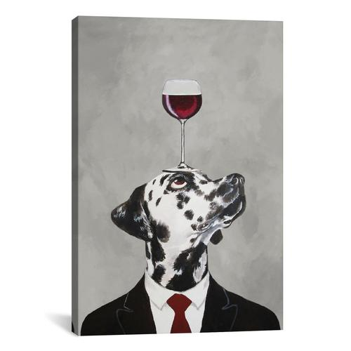 Dalmatian With Wineglass
