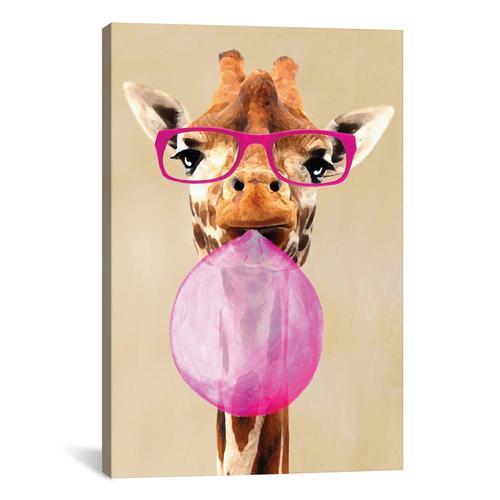 Clever Giraffe With Bubblegum