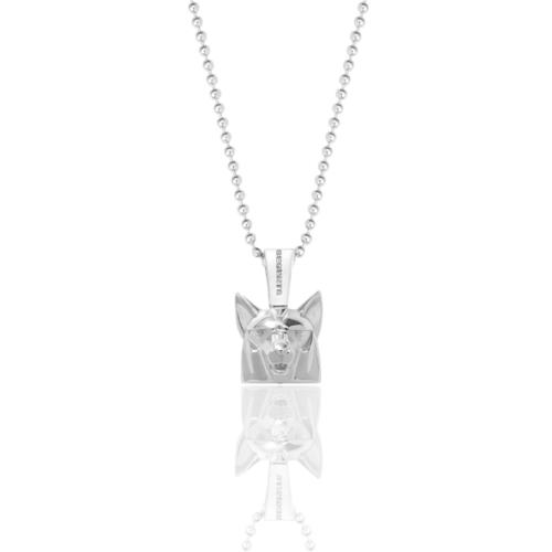 Silver Wolf Necklace