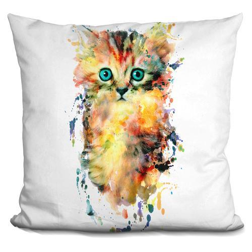Riza Peker 'Kitten' Throw Pillow