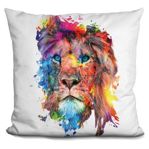 Riza Peker 'Lion' Throw Pillow