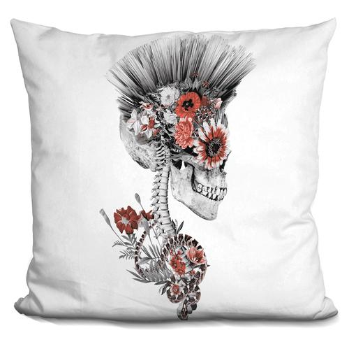 Riza Peker 'Momento Mori Punk II' Throw Pillow