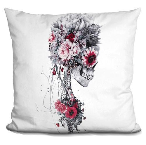 Riza Peker 'Skeleton Bride' Throw Pillow