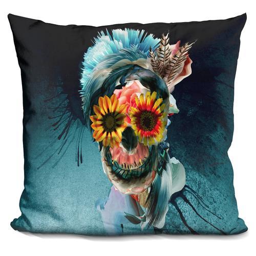Riza Peker 'Skull Women' Throw Pillow