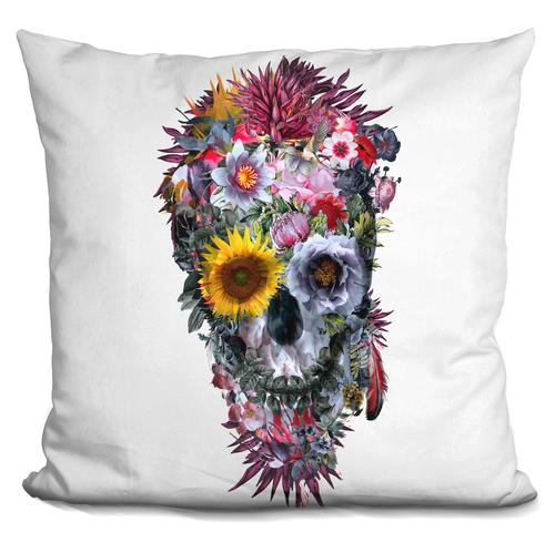 Riza Peker 'Voodoo Skull' Throw Pillow