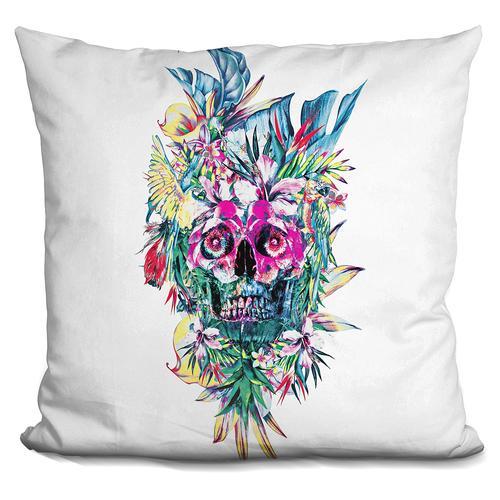 Riza Peker 'Skull Island' Throw Pillow