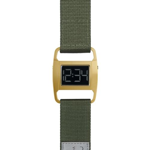 PXR5 Polished Gold case | Olive nylon strap
