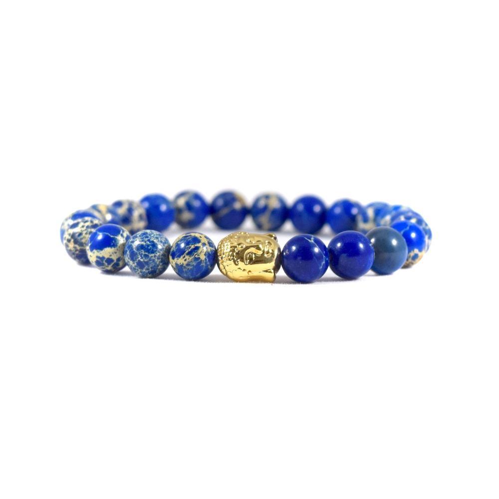 Blue Deep Sea Jasper | 24kt Gold Buddha | Executive Society