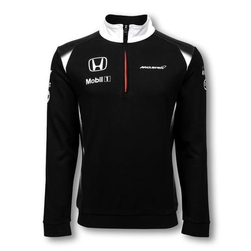 MCLAREN HONDA TEAM 1/4 ZIP SWEATSHIRT MENS 2016 REPLICA