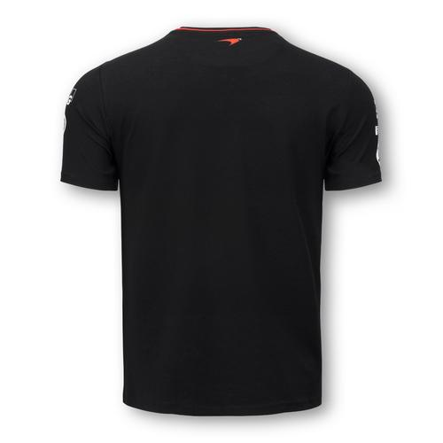 MCLAREN HONDA BLACK TEAM T-SHIRT MENS 2016 REPLICA