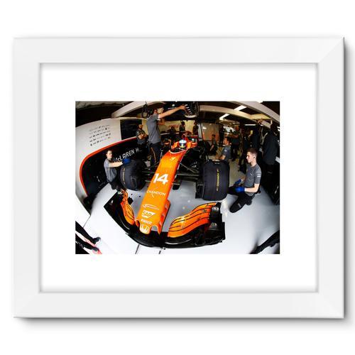 Fernando Alonso, McLaren MCL32   White